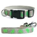 法國 亞麻犬用天然環保項圈牽繩組 (蝴蝶/綠色/M) - 牽繩 長度120cm