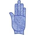 手掌-橡膠刺青模板8