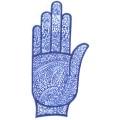 手掌-橡膠刺青模板2