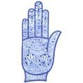 手掌-橡膠刺青模板4