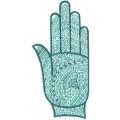 手掌-橡膠刺青模板12