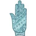 手掌-橡膠刺青模板13