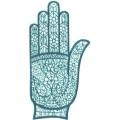 手掌-橡膠刺青模板15