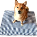 竉物睡墊 竉物床 竉物床墊-藍白格紋 台灣製(M)款 80CM x 60CM x 5CM